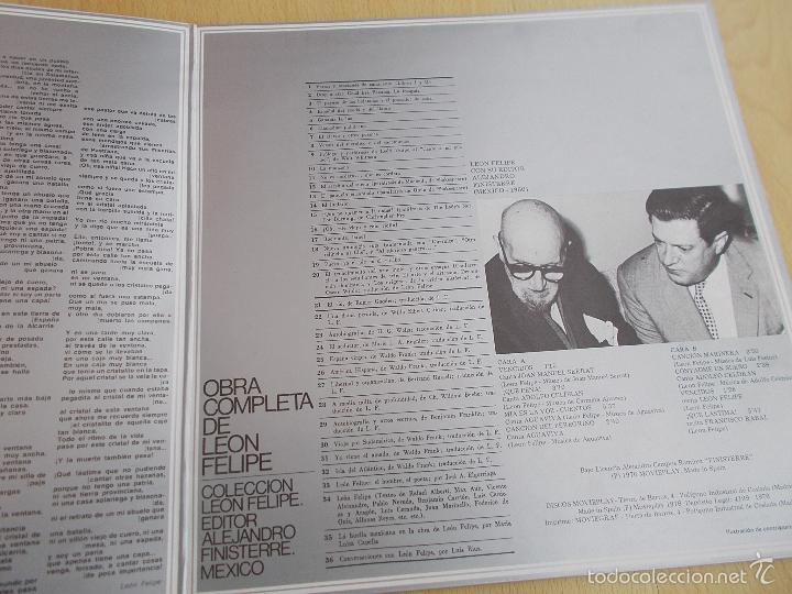Discos de vinilo: LEON FELIPE Y SUS INTERPRETES / 1 (Varios cantautores LP Moviplay 1976 ) - Foto 2 - 56012133