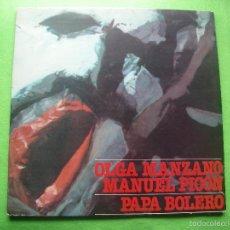 Discos de vinilo: PAPA BOLERO - OLGA MANZANO Y MANUEL PICON - ESCRITOS CANTANTES - MOVIE PLAY GONG - 1977 - LP . Lote 56012909