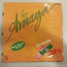 Discos de vinilo: LOS AMAYA - CARAMELOS / MAXI SINGLE DISCO DE VINILO SEVILLANAS RUMBAS 1991. Lote 56018203