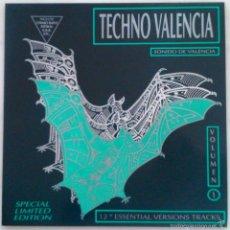 Discos de vinilo: TECHNO VALENCIA VOL 1. CHIMO BAYO, ESPIRAL, K.R.B. Y OTROS. LP EDICIÓN ESPECIAL LIMITADA. Lote 56020025