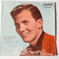 Discos de vinilo: PAT BOONE - CUANDO LAS GOLONDRINAS VUELVAL A CAPISTRANO - 1958 ED ESPAÑOL LONDON RECORDS EDGE 70799. Lote 56021247