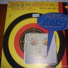 Discos de vinilo: MAXI-SINGLE DE JINNY, WANNA BE WITH U. EDICION BLANCO Y NEGRO DE 1995.. Lote 56028634