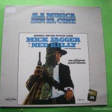Discos de vinilo: NED KELLY MICK JAGGER ( DE LOS ROLLING STONES ) LP BSO MÚSICA EN EL CINE . Lote 56031433