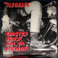 Discos de vinilo: ILEGALES – CHISTES ROCK EN YA MENOR... PROMOCIONAL. Lote 56031746