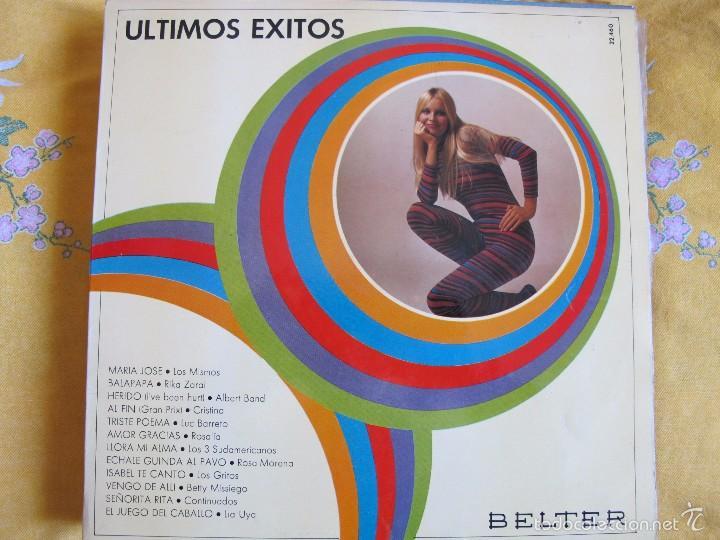 LP - ULTIMOS EXITOS - VARIOS (SPAIN, DISCOS BELTER 1970) (Música - Discos - LP Vinilo - Grupos Españoles de los 70 y 80)