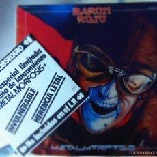 Discos de vinilo: BARON ROJO METALMORFOSIS LP CON SINGLE PROMOCIONAL. Lote 56046220