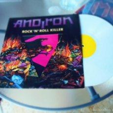 Discos de vinilo: ANDIRON ROCK AND ROLL KILLER LP FIRMADO POR TODA LA BANDA,VINILO BLANCO MUY RARO.. Lote 56048336
