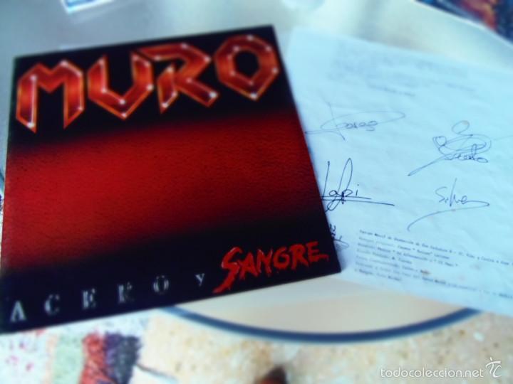 Discos de vinilo: MURO ACERO Y SANGRE LP FIRMADO POR LA FORMACION ORIGINAL. - Foto 2 - 56048429