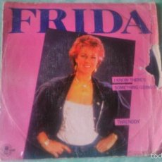 Discos de vinilo: FRIDA (MIEMBRO DE ABBA) - I KNOW THERE'S SOMETHING GOING ON .SUECIA 1982. Lote 56051478