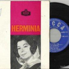 Discos de vinilo: HERMINIA EP LISBOA ANTIGA + 3.PORTUGAL.CON AUTOGRAFO. Lote 56052821