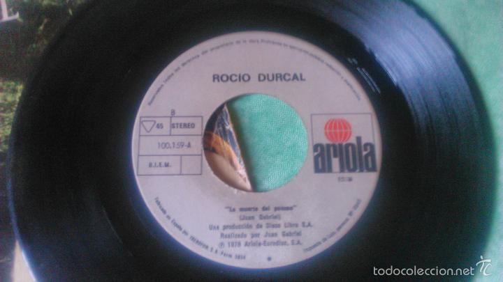 Discos de vinilo: VINILO DE 7' DE ROCIO DURCAL 'ME GUSTAS MUCHO' ariola 1978 - Foto 3 - 56052903