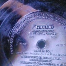Discos de vinilo: JUICIO HISTORICO AL GENERAL FRANCO 1975 -1985.CAMBIO 16.CARA AL SOL. FLEXI DISC.. Lote 56053408