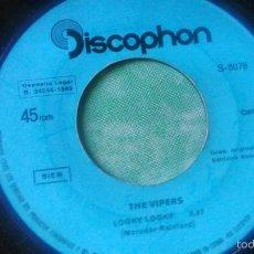 Discos de vinilo: THE VIPERS-LOOHY LOOKY-TWON OF TUXLEY.FABRICADO EN ESPAÑA POR DISCOPHON 1969. Lote 56075549