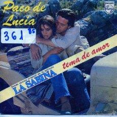 Discos de vinilo: LA SABINA (BSO) - PACO DE LUCIA / TEMA DE AMOR / TEMA DE CELOS / TEMA ANDALUZ (SINGLE 1979). Lote 56079928