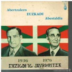 Discos de vinilo: ABERTZALEEN EUZKADI ABESTALDIA - ERESERKIA / ERESEKIA / JEIKI JEIKI + 3 - EP MADE IN FRANCE. Lote 56080347