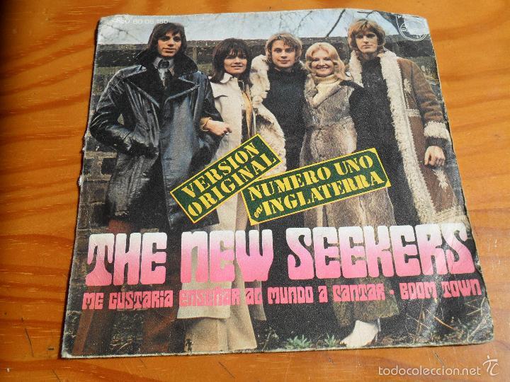 THE NEW SEEKERS - I'D LIKE TO TEACH THE WORLD TO SING/ BOOM TOWN - 1972 ESPAÑA (Música - Discos - Singles Vinilo - Pop - Rock - Extranjero de los 70)