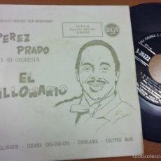 Discos de vinilo: PEREZ PRADO Y SU ORQUESTA ( EL MILLONARIO ) EP 45 RPM ESPAÑA ( VG / EX ) RCA 3-20222. Lote 56090075