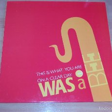 Discos de vinilo: LP DISCO SINGLE VINILO WAS A BEE THIS IS WATH YOU ARE. Lote 56107240