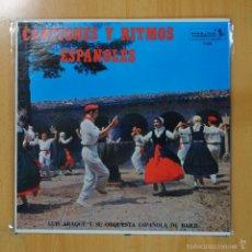 Discos de vinilo: LUIS ARAQUE Y SU ORQUESTA ESPAOLA DE BAILE - CANCIONES Y RITMOS ESPAOLES - LP. Lote 56123851