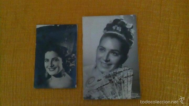 2 FOTOS DE JUANITA REINA (Música - Discos de Vinilo - EPs - Flamenco, Canción española y Cuplé)