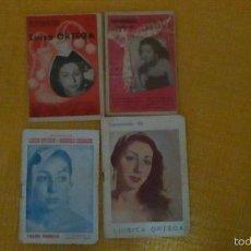 Discos de vinilo: LIBRETOS DE CANCIONES DE LUISA ORTEGA. Lote 56146692