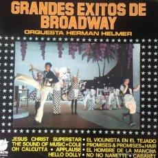Disques de vinyle: ORQUESTA HERMAN HELMER - GRANDES EXITOS DE BROADWAY . LP . 1975 IMPACTO EL-145. Lote 56150309