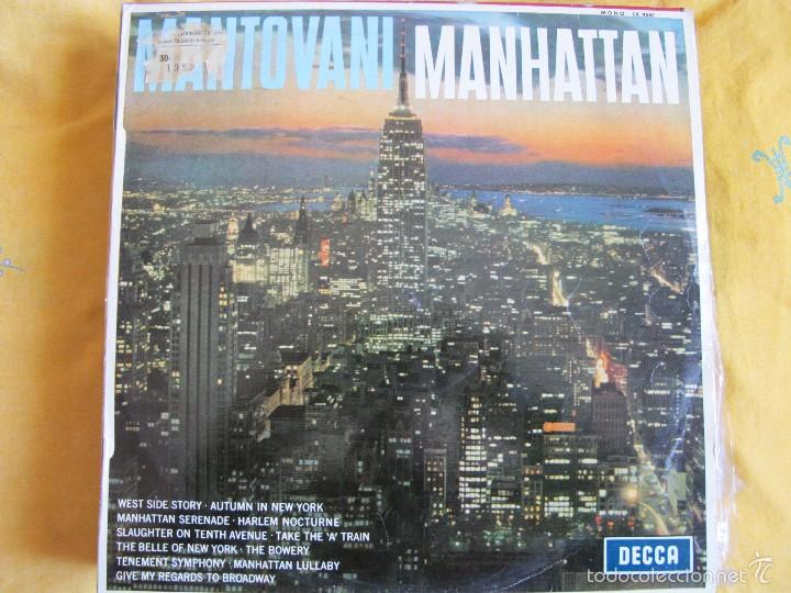 LP - MANTOVANI - MANHATTAN (SPAIN, DECCA RECORDS 1960) (Música - Discos - LP Vinilo - Orquestas)