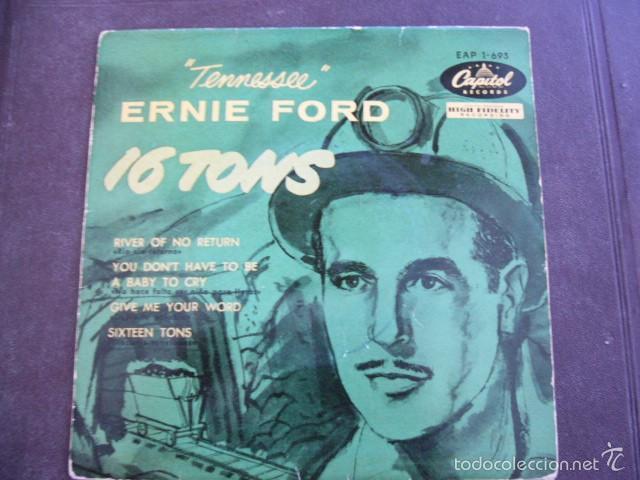 ERNIE FORD 16 TONS EP 1958 (Música - Discos de Vinilo - EPs - Country y Folk)