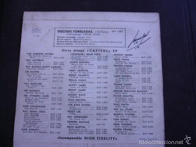 Discos de vinilo: Ernie Ford 16 Tons EP 1958 - Foto 2 - 56154260
