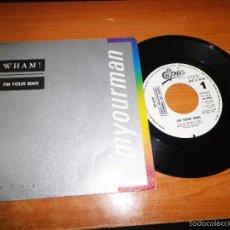 Discos de vinilo: WHAM I´M YOUR MAN SINGLE VINILO PROMOCIONAL ESPAÑOL DEL AÑO 1985 CONTIENE 1 TEMA. Lote 56155411