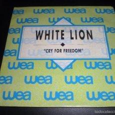 Discos de vinilo: WHITE LION CRY FOR FREEDOM SINGLE VINILO 7 PULGADAS PROMOCIONAL ESPAÑOL!!!!. Lote 56159100
