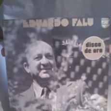 Discos de vinilo: DISCO DE VINILO EDUARDO FALU- DISCO DE ORO. Lote 56159178