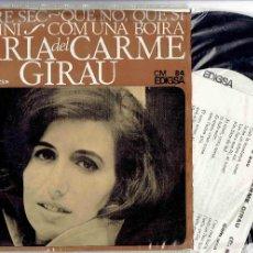 Discos de vinilo: MARIA DEL CARME GIRAU L'ARBRE + 3 EP EDIGSA 1967 @ ELS SETZE JUTGES 1965 @ NUEVO A ESTRENAR. Lote 56163829