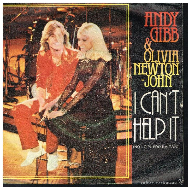 ANDY GIBB & OLIVIA NEWTON JOHN - I CAN'T HELP IT / SOMEONE I AIN'T - SINGLE 1980 (Música - Discos de Vinilo - Singles - Pop - Rock Extranjero de los 80)