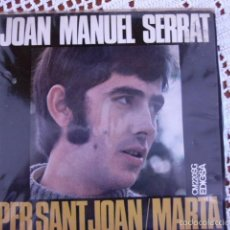 Discos de vinilo: JOAN MANUEL SERRAT PER SANT JOAN EP 1968. Lote 56168960