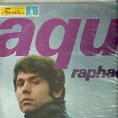 Discos de vinilo: RAPHAEL LP SELLO HISPAVOX-FUENTES EDITADO EN COLOMBIA . Lote 56174123