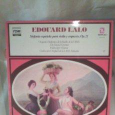 Discos de vinilo: DISCO DE VINILO EDOUARD LALO - SINFONÍA PARA VIOLÍN Y ORQUESTA, OP. 21. Lote 56175360