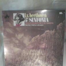 Discos de vinilo: DISCO DE VINILO L.V.BEETHOVEN - 5° SINFONÍA - ORQ. SINF. DE BAVIERA. Lote 56175361