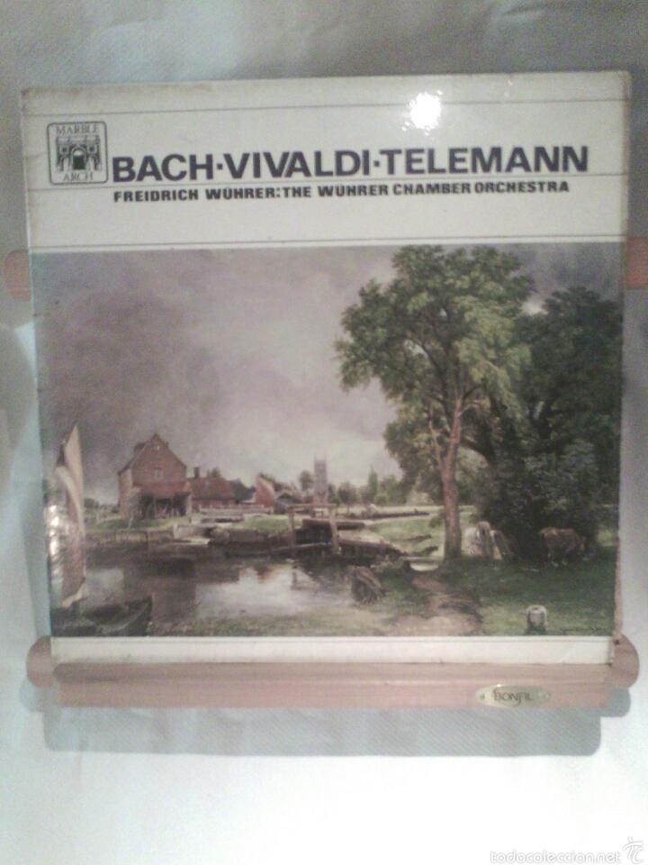 DISCO DE VINILO BACH, VIVALDI, TELEMANN (EDICIÓN MONOAURAL) (Música - Discos - LP Vinilo - Clásica, Ópera, Zarzuela y Marchas)