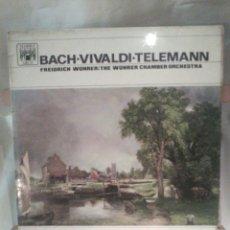 Discos de vinilo: DISCO DE VINILO BACH, VIVALDI, TELEMANN (EDICIÓN MONOAURAL). Lote 56175363
