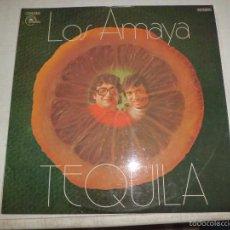 Disques de vinyle: LOS AMAYA - TEQUILA EMIDISC 1 J 048-51518 PROMOCIONAL MUY BUEN ESTADO DIFICIL. Lote 56185402