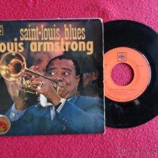 Discos de vinilo: LOUIS ARMSTRONG - SAINT-LOUIS BLUES + 2 // EP // 1967 // SPAIN. Lote 56192989