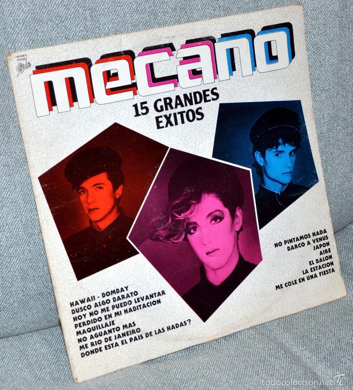 MECANO - LP ALBUM VINILO 12'' - 15 GRANDES ÉXITOS - EDITADO EN MÉXICO - EPIC 1984 (Música - Discos - LP Vinilo - Grupos Españoles de los 70 y 80)