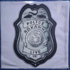Discos de vinilo: POLICE: ROXANNE LIVE / CAN´T STAND LOSING YOU LIVE, SHAPE PICT SINGLE AM 731458 1036 7. M/M. Lote 56199955