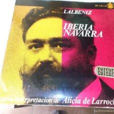 Discos de vinilo: ALBENIZ ,IBERIA, NAVARRA INTERPRETACION DE ALICIA DE LARROCHA HISPAVOX 2LPS 1962. Lote 56203856