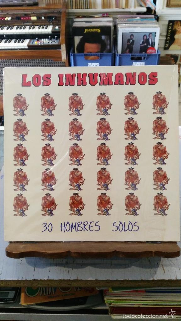 LOS INHUMANOS - 30 HOMBRES SOLOS (Música - Discos - LP Vinilo - Grupos Españoles de los 70 y 80)