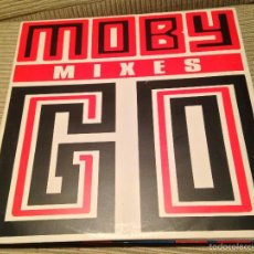 Disques de vinyle: MOBY - GO MIXES - MAXI UK OUTER RHYTHM 1991 - TECHNO. Lote 56216466