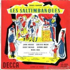 Discos de vinilo: LOUIS GANNE: LES SALTIMBANQUES. OPERA COMICA. - 2 X EP DECCA FRANCE. Lote 56216929