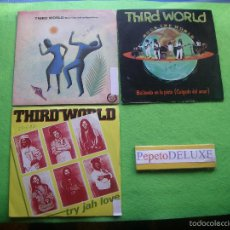 Discos de vinilo: THIRD WORLD (3 SG) TRY JAH LOVE/DANCING IN T/NOW SINGLES SPAIN 1982 PDELUXE. Lote 56219128