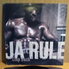 Discos de vinilo: JA RULE. CLAP BACK. MAXI SINGLE / M.I. RECORDS - 2003. MBC. ***/***. Lote 56230799